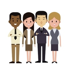 group people multi-ethnic business work vector image