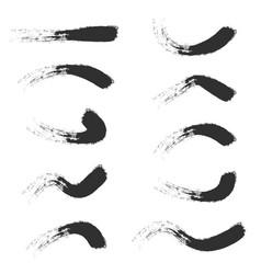 grunge brush strokes pack vector image