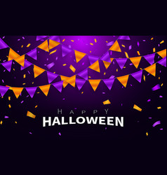 happy halloween carnival background orange purple vector image