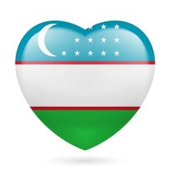 Heart icon of Uzbekistan vector