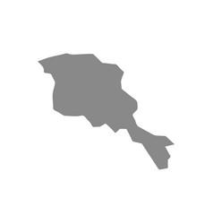 High detailed gray map armenia map vector