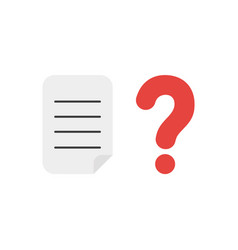 icon concept of written paper with question mark vector image
