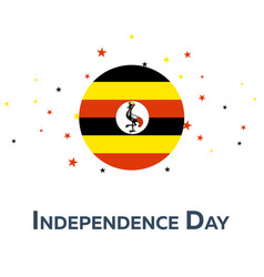 Independence day of uganda patriotic banner vector