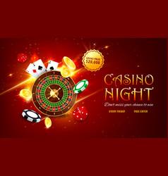 internet casino roulette web banner landing page vector image