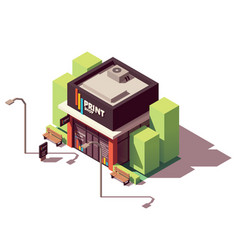 Isometric copy and print shop vector