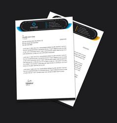 letterhead template design standard a4 size vector image