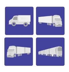 Logistics truck set vector