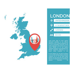 london map infographic vector image
