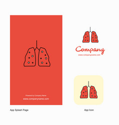 lungs company logo app icon and splash page vector image