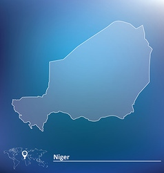 Map of Niger vector image