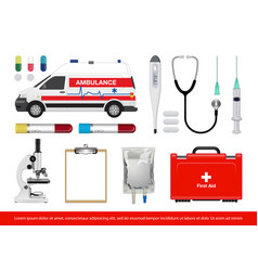 medical equipment image vector image