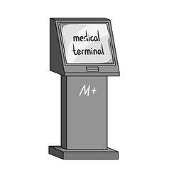 medical terminal terminals single icon in vector image