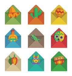 Mexican envelopes vector