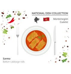 montenegrin cuisine european national dish vector image