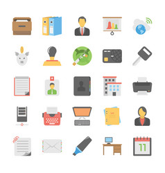 Office and internet icons vector