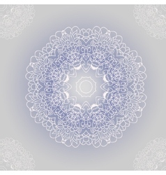 ornamental round lace with damask and arabesque vector image