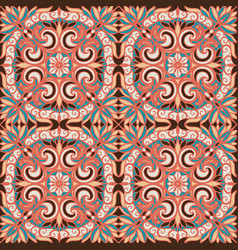 pattern with arabesques vector image