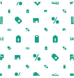 Promotion icons pattern seamless white background vector