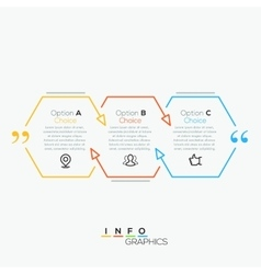 Quote infographic vector