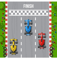 Race Finish Top View vector