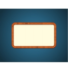 Rectangle road billboard vector image