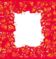 red canna lily border2 vector image