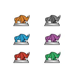 Rhino full color vector