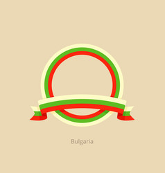 ribbon and circle with flag of bulgaria vector image