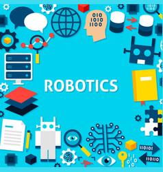 Robotics paper template poster vector
