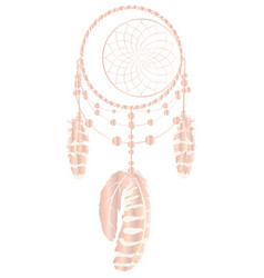 Rose gold dreamcatcher vector