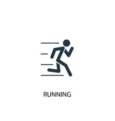 running icon simple element running vector image