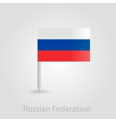 Russian flag pin map icon vector