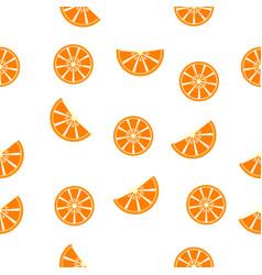 seamless pattern orange slices vector image