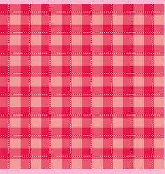 seamless sweet pink background - checkered pattern vector image