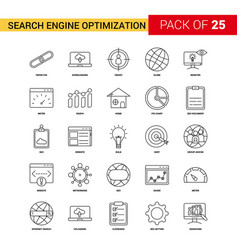 Search engine optimization black line icon - 25 vector
