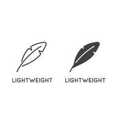 set minimal weight and scales related line vector image