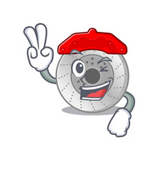 Smiley mascot car brake cartoon character vector