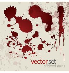 Splattered blood stains set 7 vector