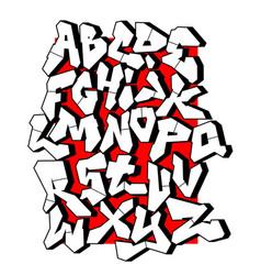 Straight lines font editable alphabet vector