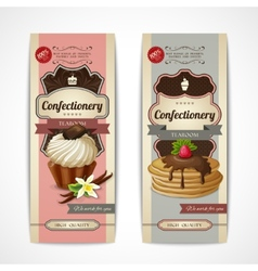 Sweets vintage banners vertical vector