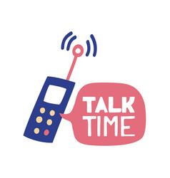 time to talk with phone and cloud for chat which vector image