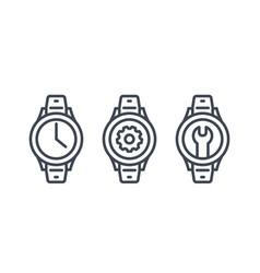 watch repair icons vector image