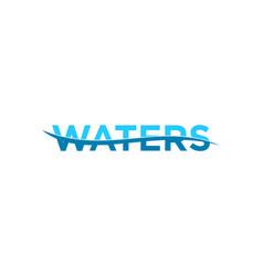 Waters logo template design vector
