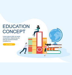 web page design templates for education concept vector image