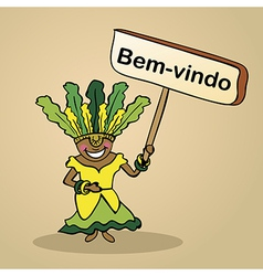 Welcome to brazil people vector