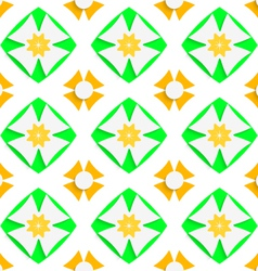 White crosses and green and orange vector
