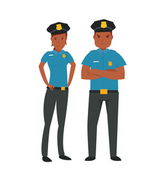 young african american police vector image