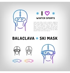 Balaclava isolated icon ski mask vector