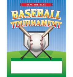 Baseball Tournament Flyer vector image vector image