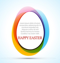colorful easter design vector image
